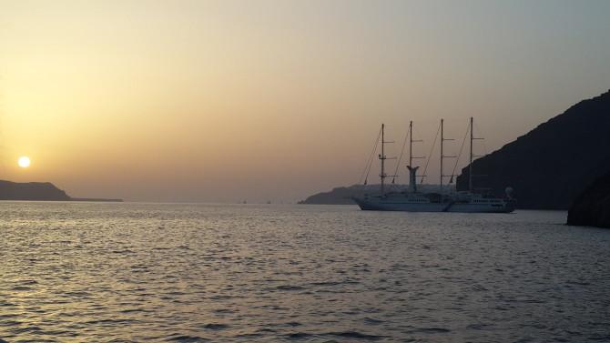 Santorini'de gün batımı